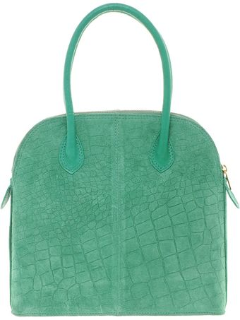 Asos Suede Croc Embossed Lady Bag - Lyst