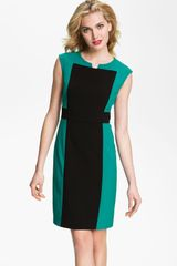 Calvin Klein Contrast Panel Woven Sheath Dress - Lyst