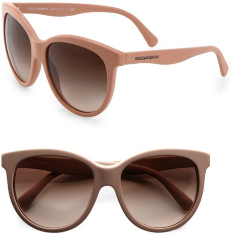 Dolce & Gabbana Oversized CatsEye Acetate Sunglasses in Pink (rose) - Lyst