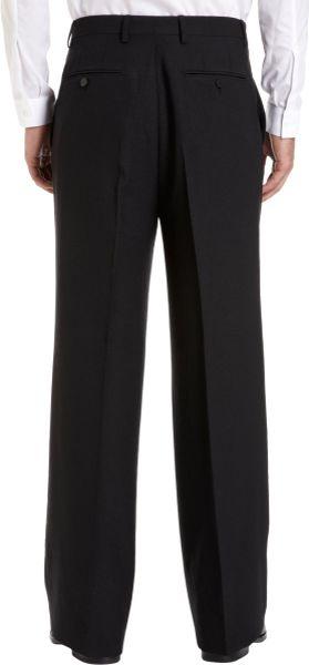 Lanvin High Waist Wide Leg Trousers In Black For Men Lyst