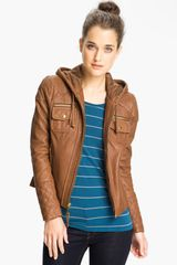 Michael by Michael Kors Hooded Leather Jacket - Lyst