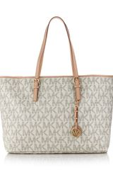Michael Kors Jet Set Logo Macbook Travel Tote in Gray (jet) - Lyst