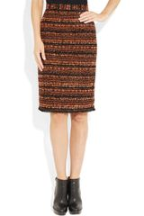 Mulberry Bouclétweed Pencil Skirt in Black - Lyst