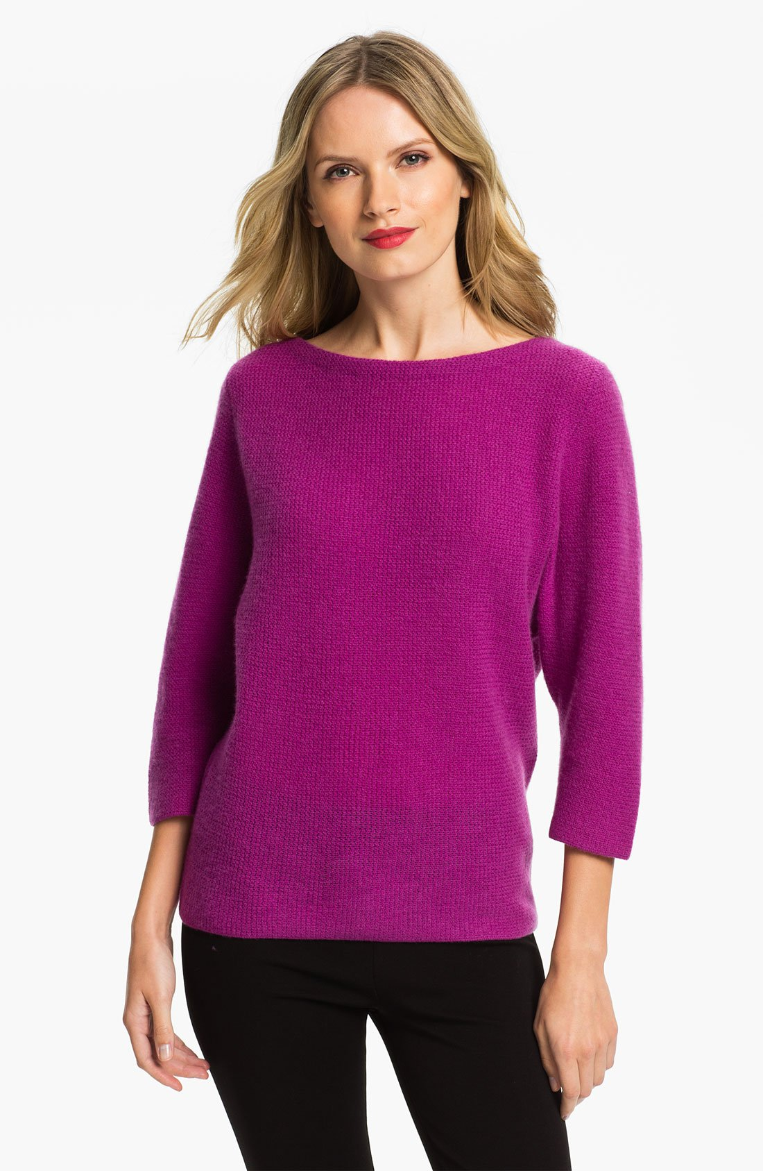 Nordstrom Collection Dolman Sleeve Cashmere Sweater in Purple (light ...