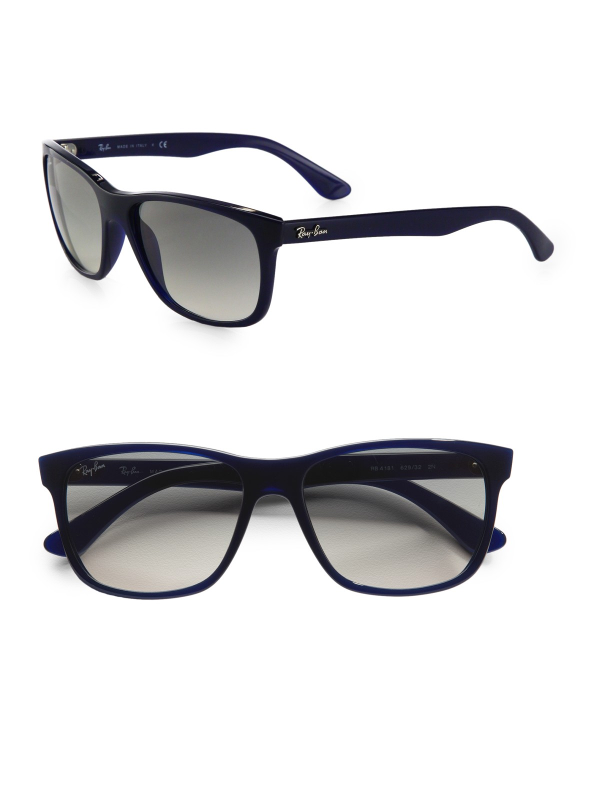 Lyst Ray Ban Square Top Acetate Sunglasses In Black
