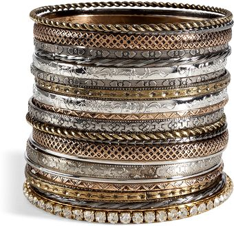 R.j.graziano Mixed Metal Set Of Bangles - Lyst
