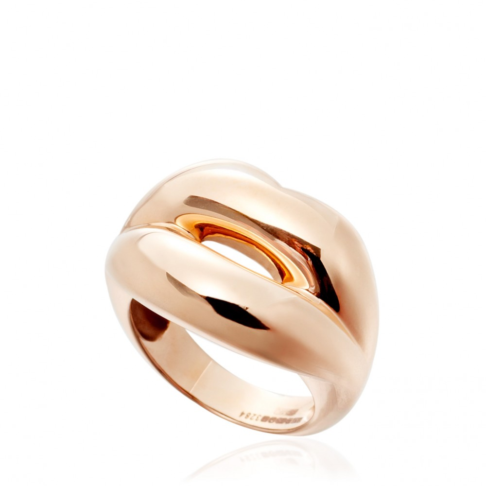Solange azagury-partridge Hot Lips Ring in Gold (rose) | Lyst