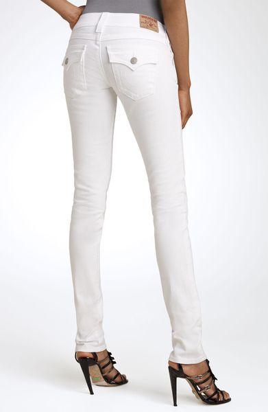 true religion julie skinny stretch jeans in white body. Black Bedroom Furniture Sets. Home Design Ideas