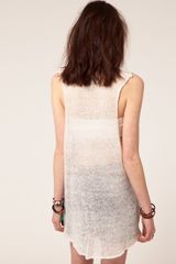 Wildfox White Label Alamo Intarsia Sleeveless Jumper in White (cleanwhite) - Lyst