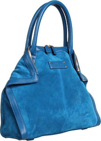 Alexander Mcqueen De Manta Mini Tote in Blue (r) - Lyst