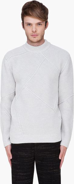 Alexander Wang Shattered Patchwork Turtleneck Pullover in White for Men (ivory) - Lyst