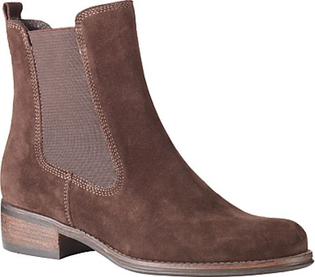 John Lewis Asti Suede Chelsea Boots Chocolate Brown in Brown (chocolate)
