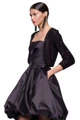 Oscar De La Renta Silk Sequin Bolero in Black - Lyst