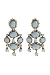 Oscar de la Renta Opaque Cabochon Drop Earrings - Lyst