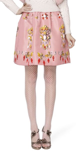 Oscar De La Renta Skirt in Pink (rose) - Lyst