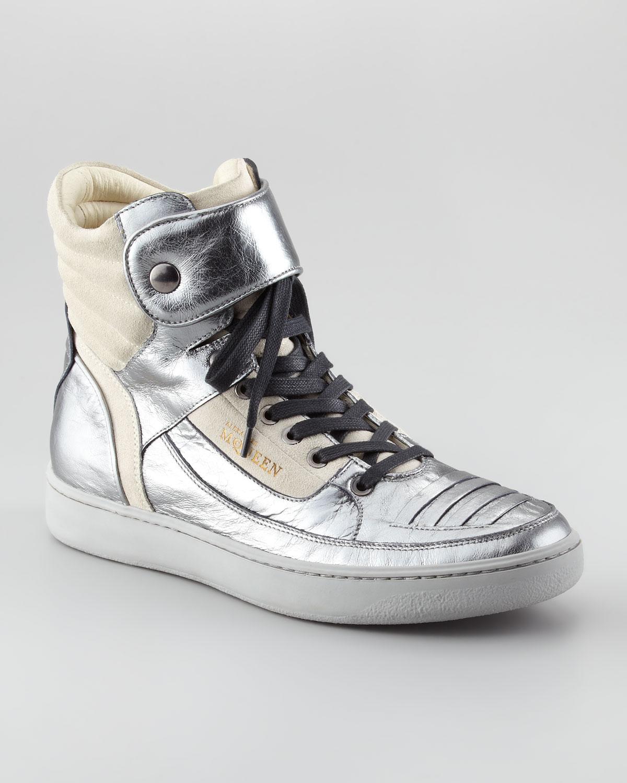 Alexander McQueen X Puma Joust Metallic Hitop Sneaker in Metallic ... 0a13d01c9