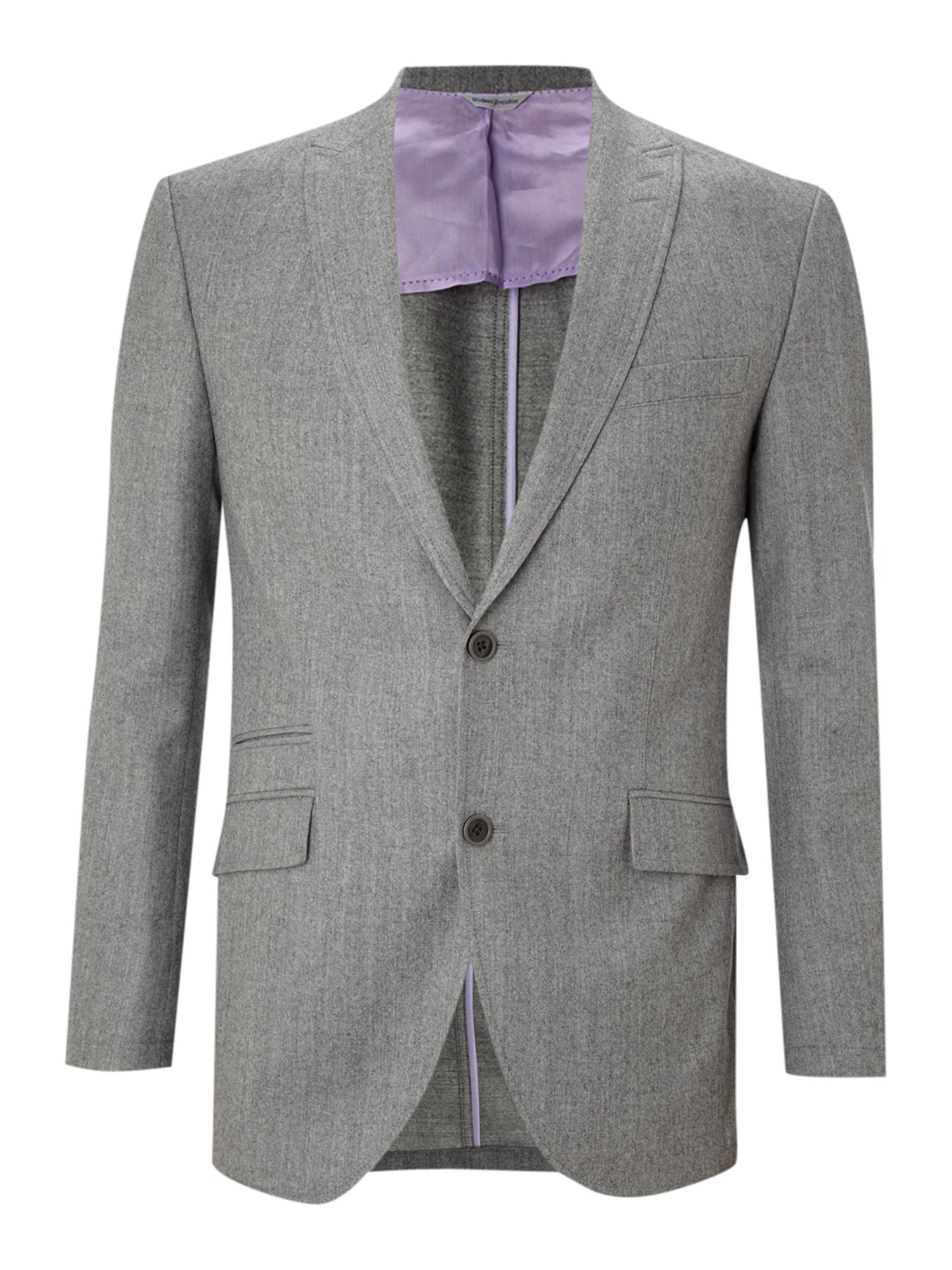 Without Prejudice Single Breasted Flannel Blazer In Gray