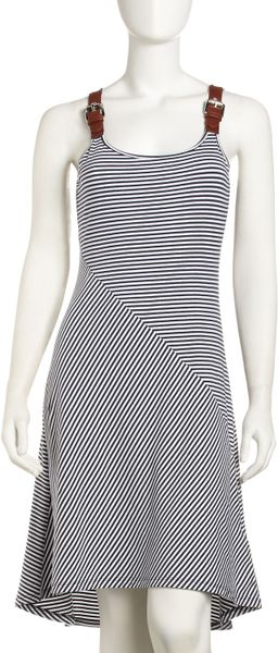 Michael Michael Kors Belt-strap Tank Dress in Gray (washed ind)