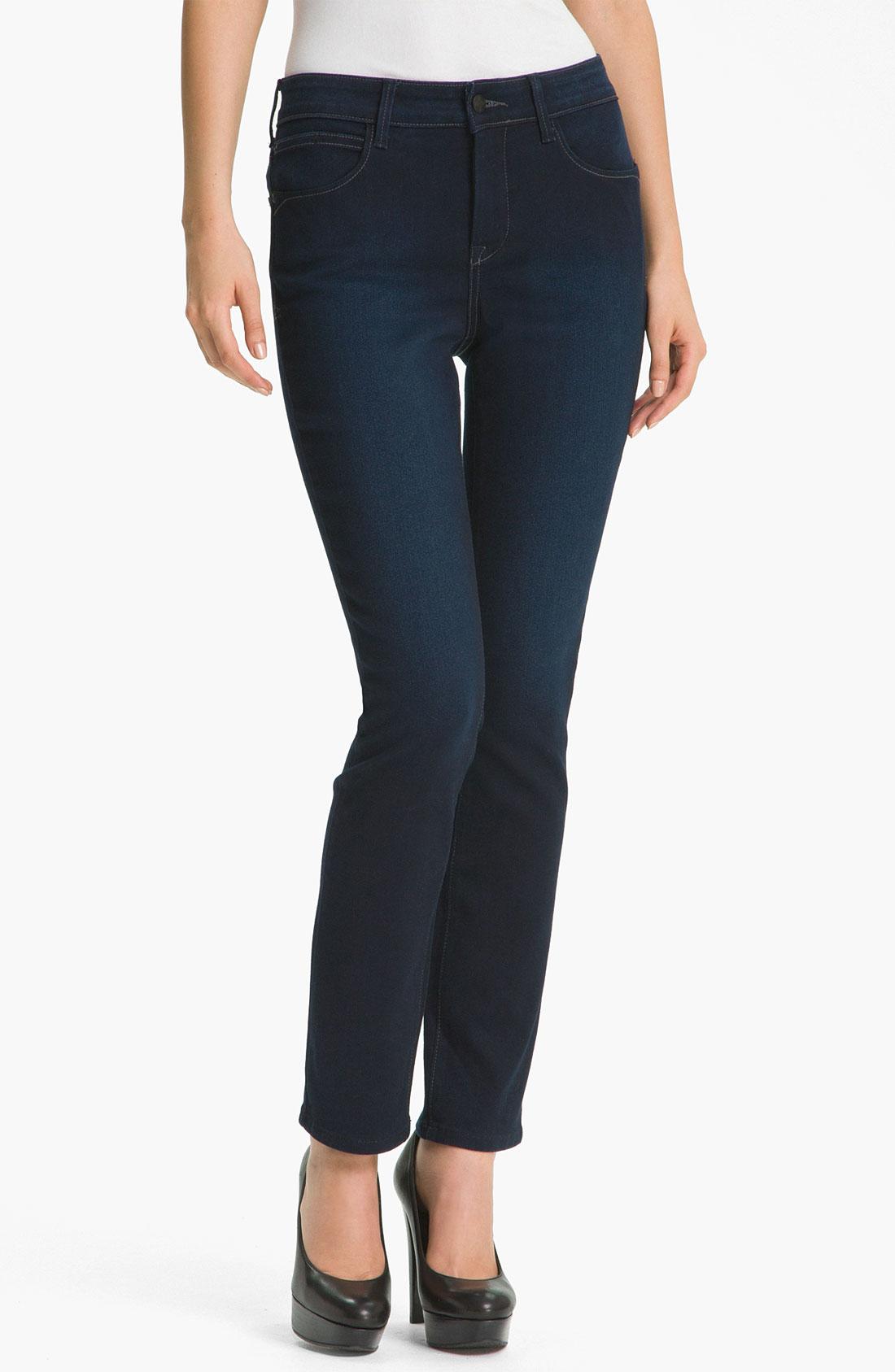 not your daughter 39 s jeans nydj jade denim leggings in blue. Black Bedroom Furniture Sets. Home Design Ideas