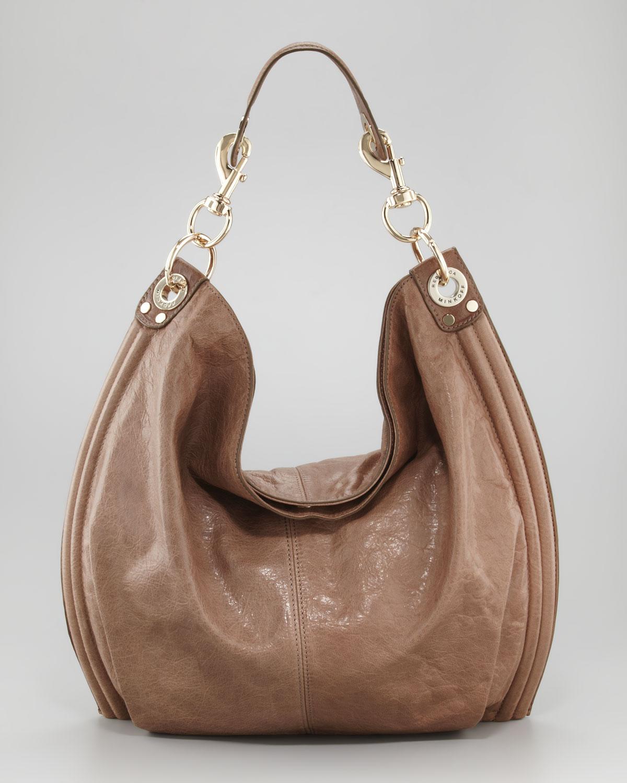 Rebecca minkoff Luscious Goatskin Hobo Bag Taupe in Brown | Lyst