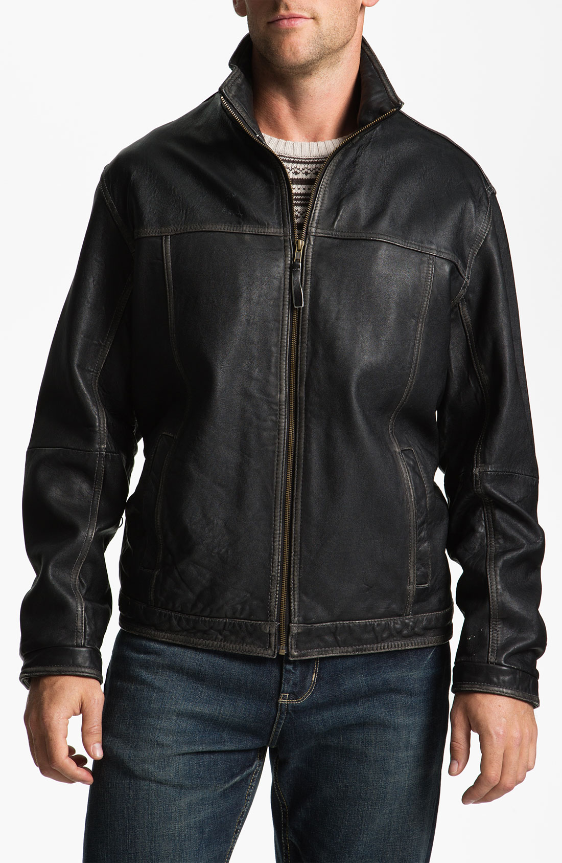 Tommy bahama rocker canyon leather jacket