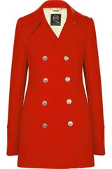 Mcq By Alexander Mcqueen Doublebreasted Woolblend Coat in Red - Lyst