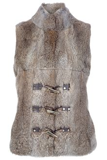 Michael by Michael Kors Rabbir Fur Gilet - Lyst