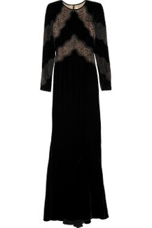 Valentino Lace and Velvet Gown - Lyst