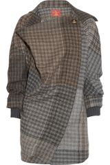 Vivienne Westwood Red Label Draped Woolblend Tweed Coat - Lyst