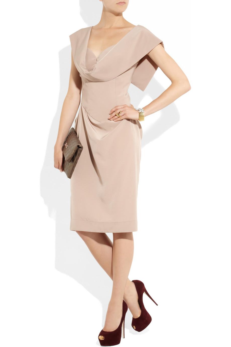 Vivienne Westwood Red Label Crepe De Chine Dress In Pink Lyst
