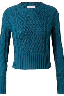 Acne Lia Cable Knit Cotton Jumper - Lyst