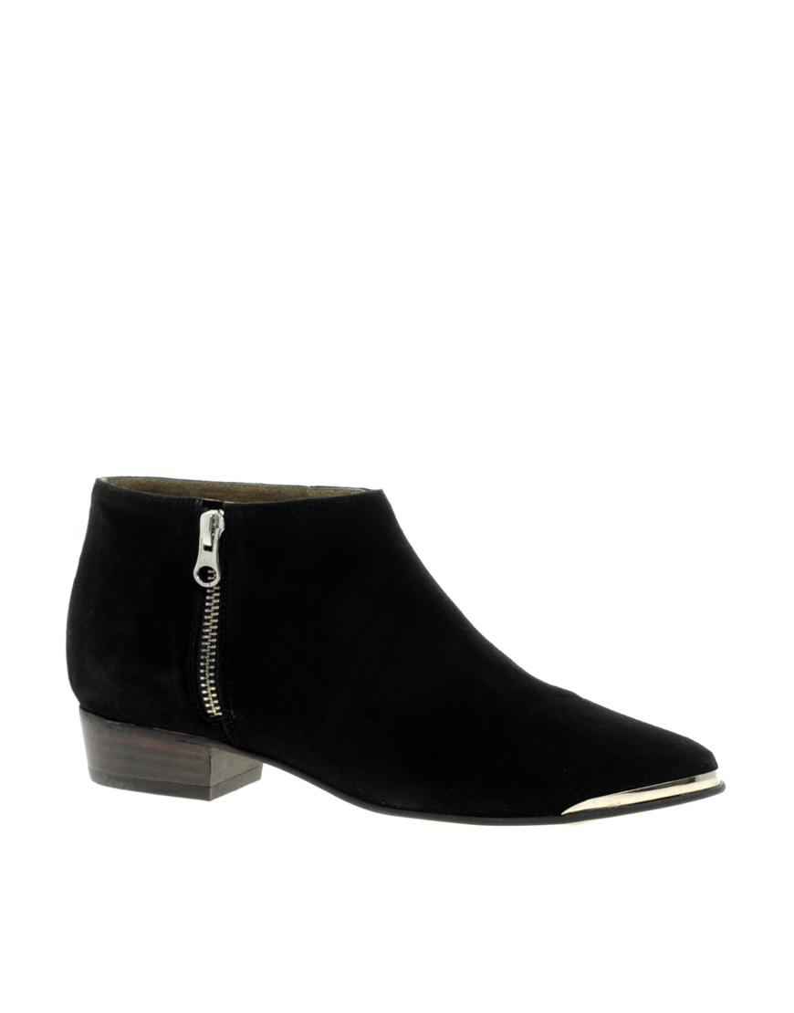 aldo froande metal tip ankle boots in black lyst