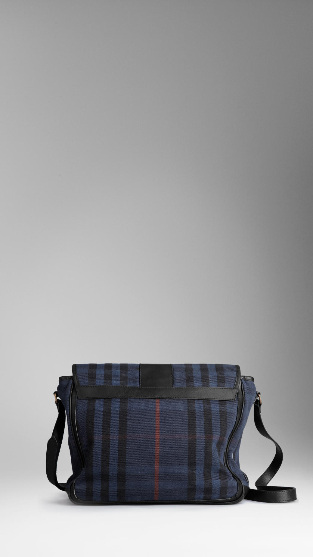 b618b5355dd6 Lyst - Burberry Small Vintage Washed Check Messenger Bag in Blue for Men