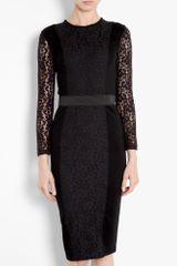 By Malene Birger Noea Interlock Lace Dress in Black (jet) - Lyst