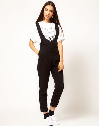 Danielle Scutt Dungarees in Black Denim - Lyst