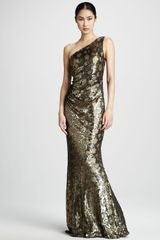 David Meister Metallic Leopardprint Gown - Lyst