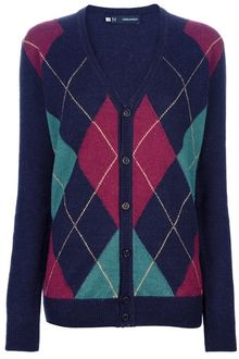 DSquared2 Argyle Cardigan - Lyst