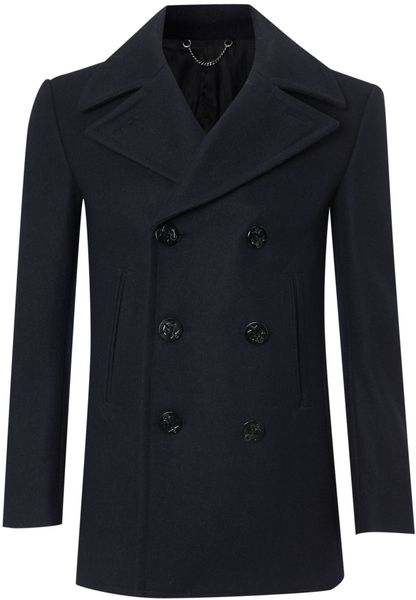 Farrell Doublebreasted Naval Peacoat in Blue for Men (navy) - Lyst