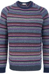 Folk Striped Sweater - Lyst
