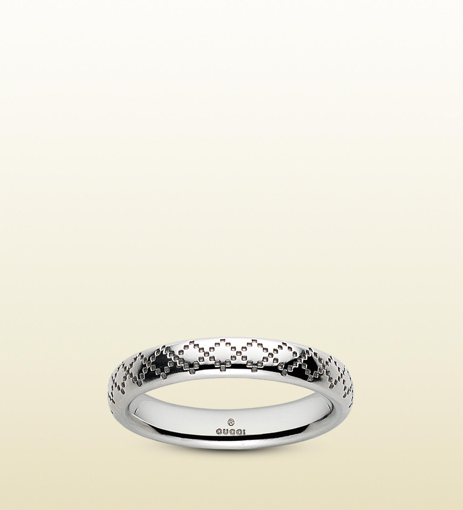 Gucci Diamantissima Ring in Metallic for Men