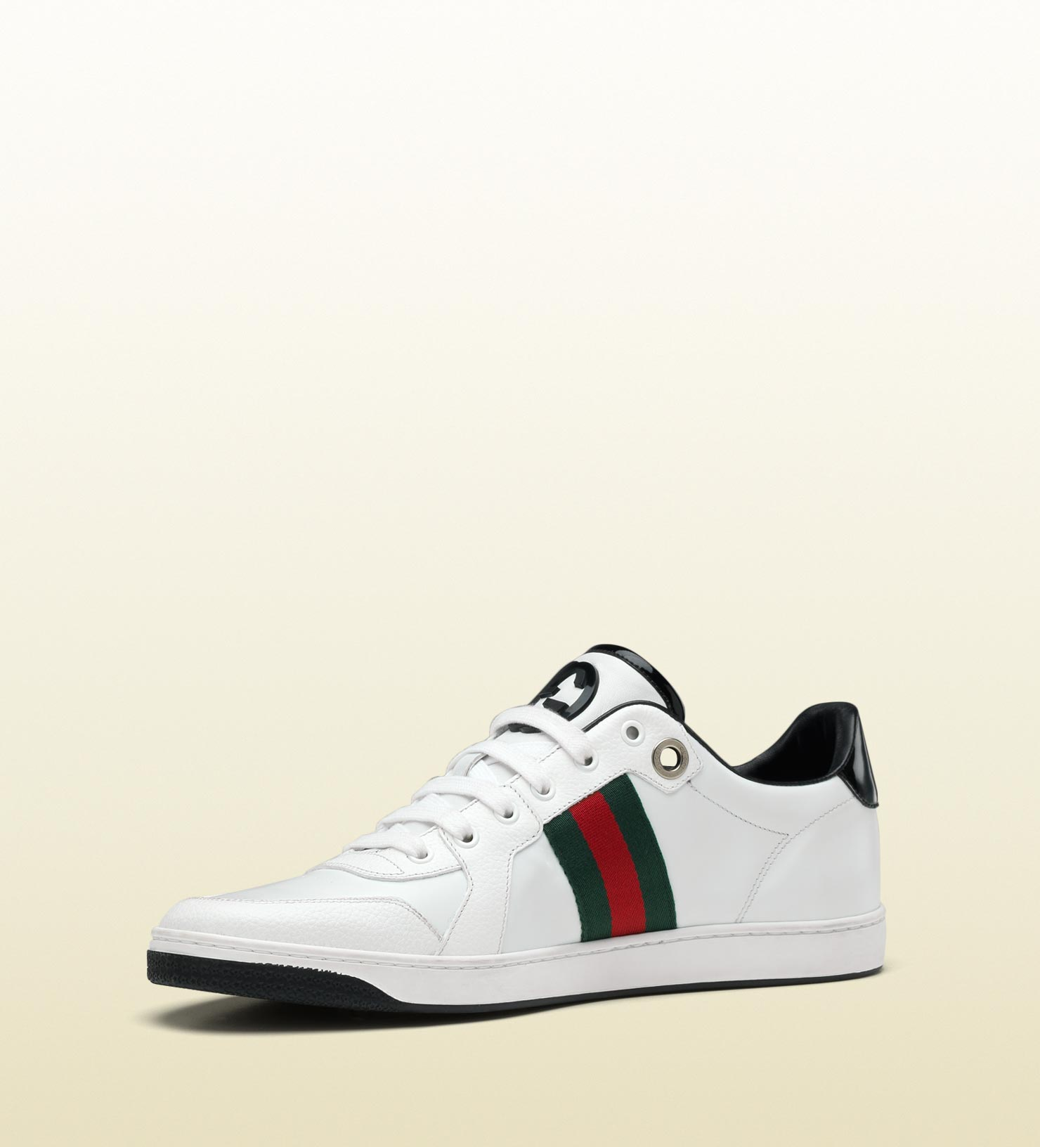4381803500a1a Lyst - Gucci Lace-up Sneaker With Interlocking G And Signature Web ...