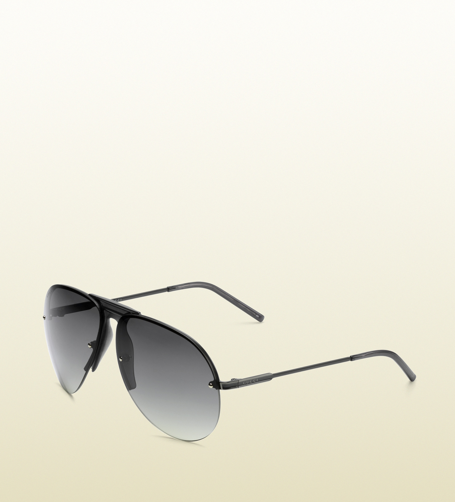 6a2785cb60b Lyst - Gucci Medium Aviator Sunglasses with Gucci Logo On Temples in ...