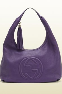 Gucci Soho Blue Leather Hobo - Lyst
