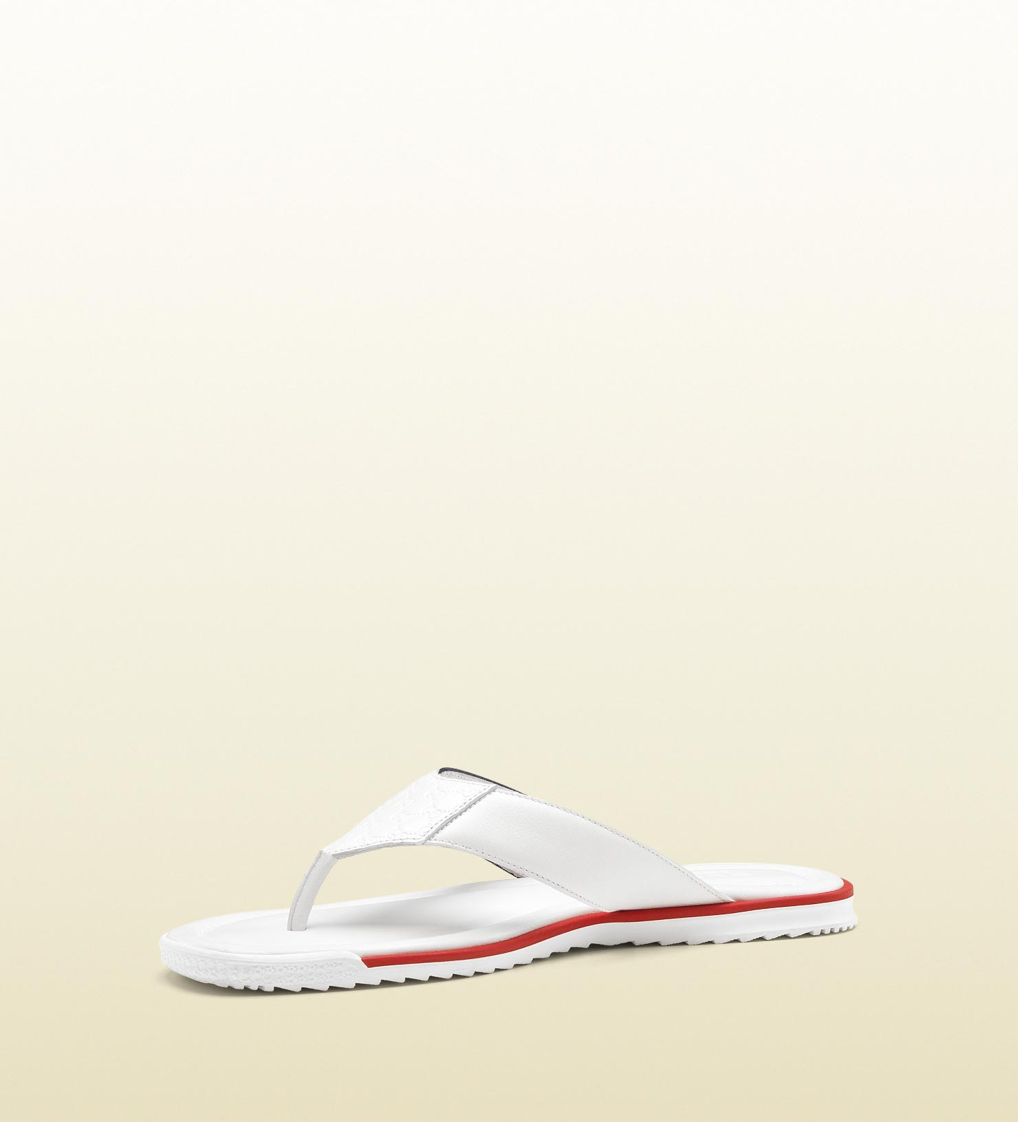 293012b5757c19 Lyst - Gucci White Leather Thong Sandal in White for Men