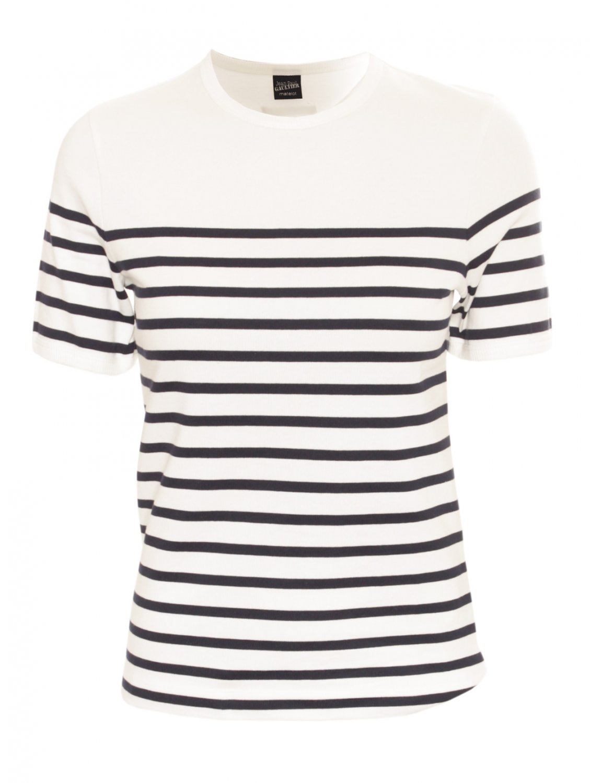 Jean paul gaultier striped t shirt in white lyst - Acheter mariniere jean paul gaultier ...
