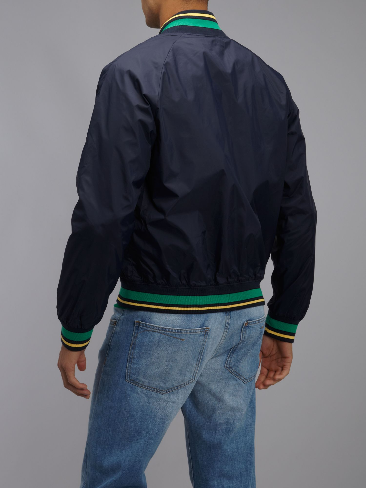 Lyst Lacoste Live Big Croc Bomber Jacket In Blue For Men
