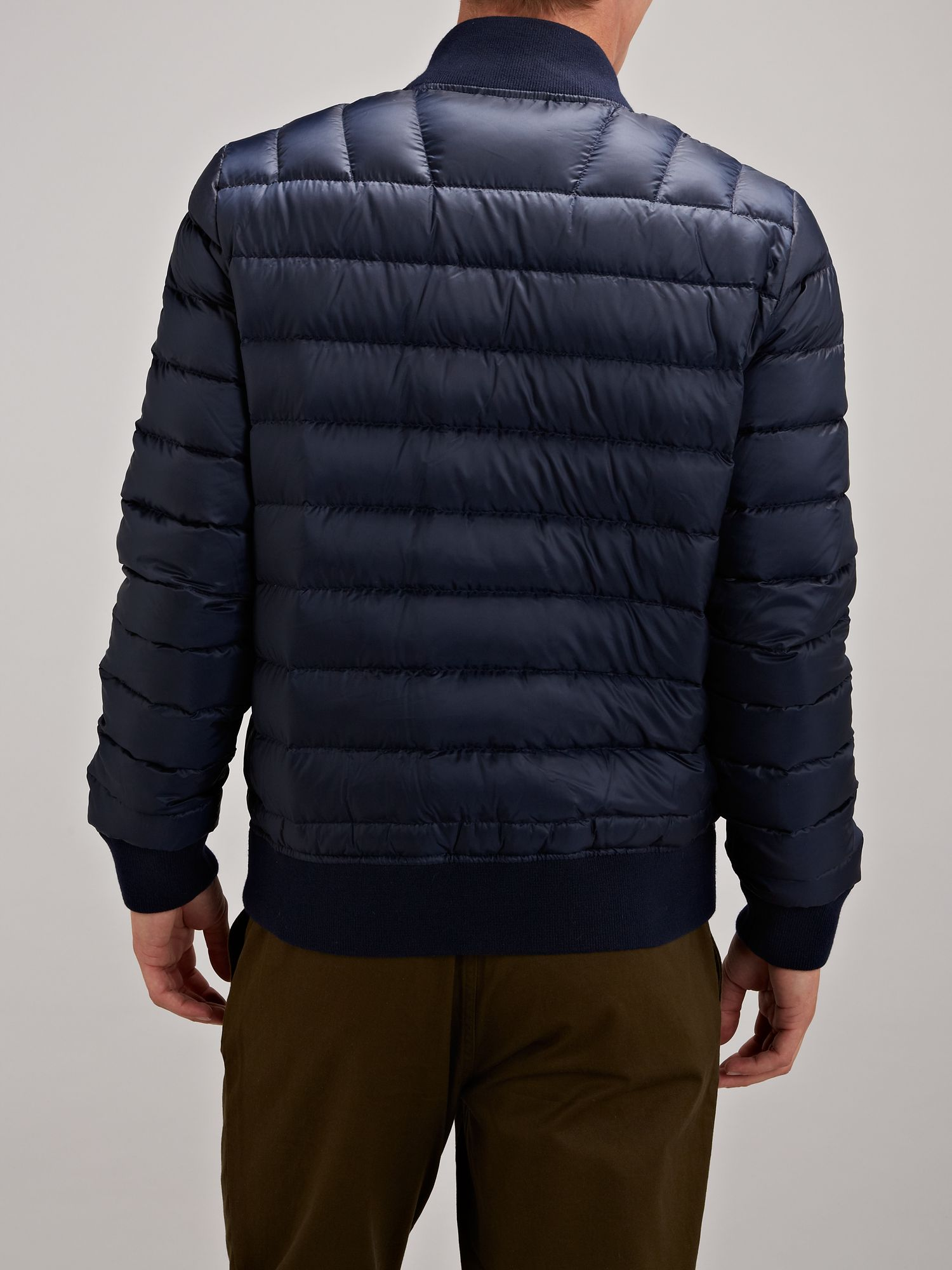 lacoste live puffa jacket in blue for men lyst. Black Bedroom Furniture Sets. Home Design Ideas