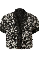 Marc Jacobs Embellished Tinsel Tweed Wool Jacket - Lyst