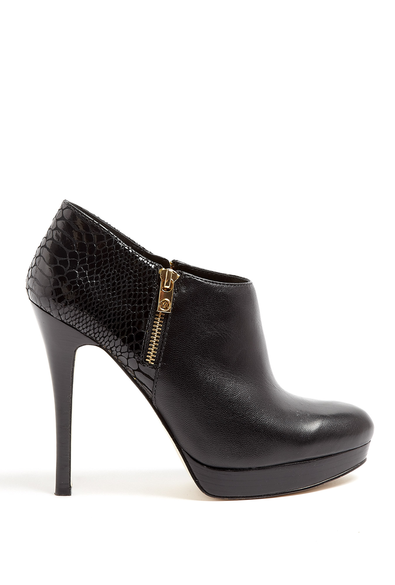 Michael Michael Kors Black Leather And Patent Python York