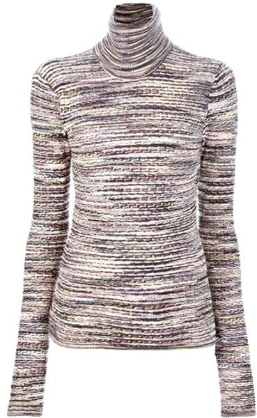 Missoni Turtleneck Sweater in Multicolor (multicolour)